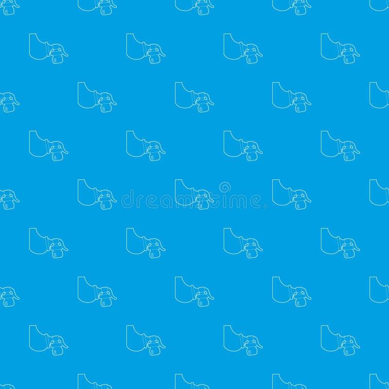手工抽乳器样式传染媒介无缝的蓝色 向量例证