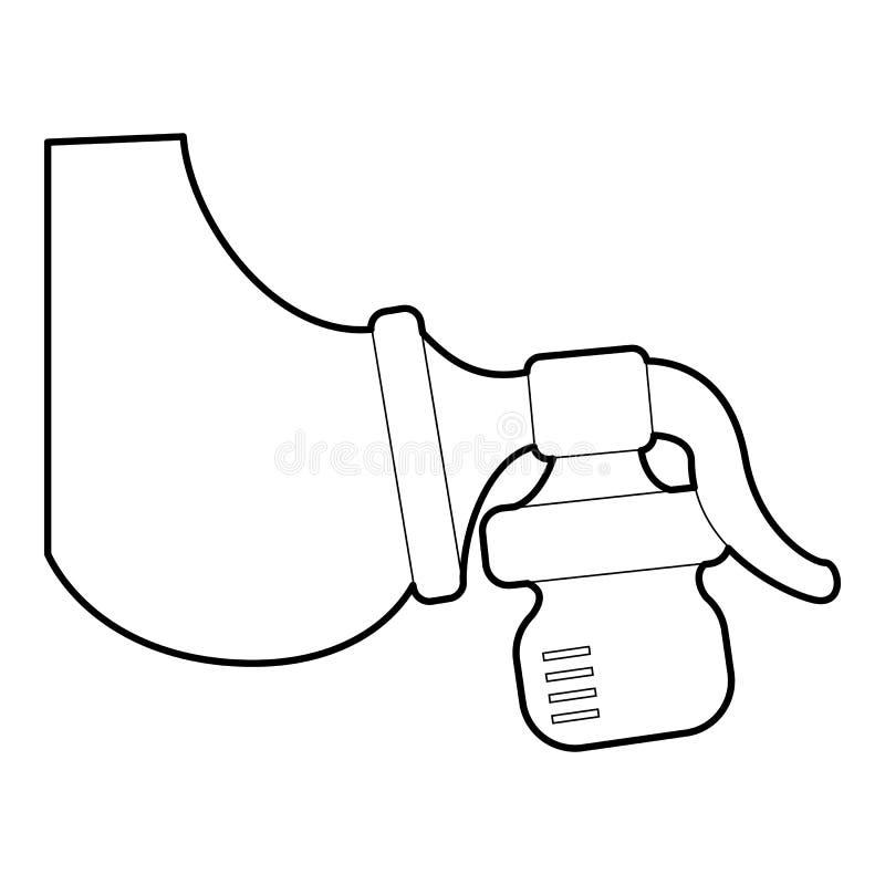 手工抽乳器象,等量3d样式 皇族释放例证