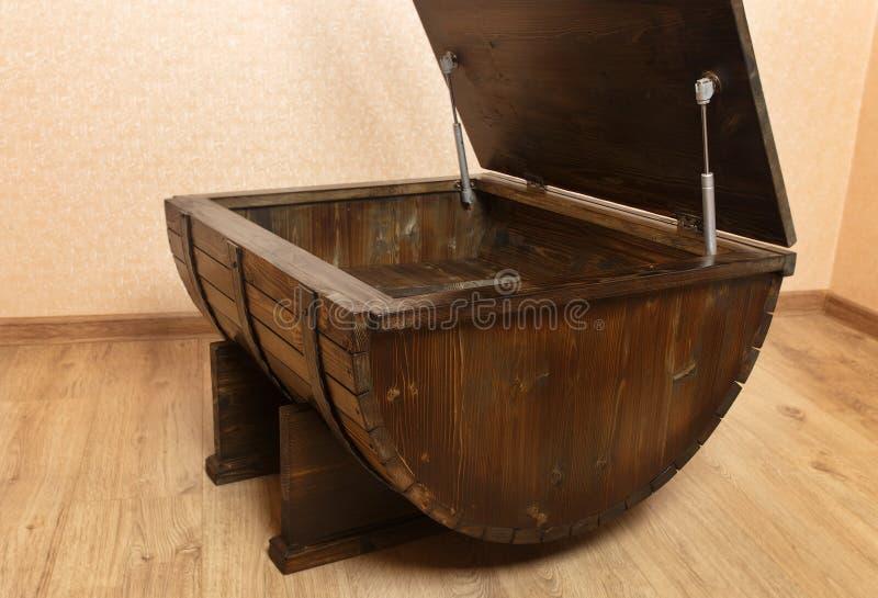 手工木桌  库存照片
