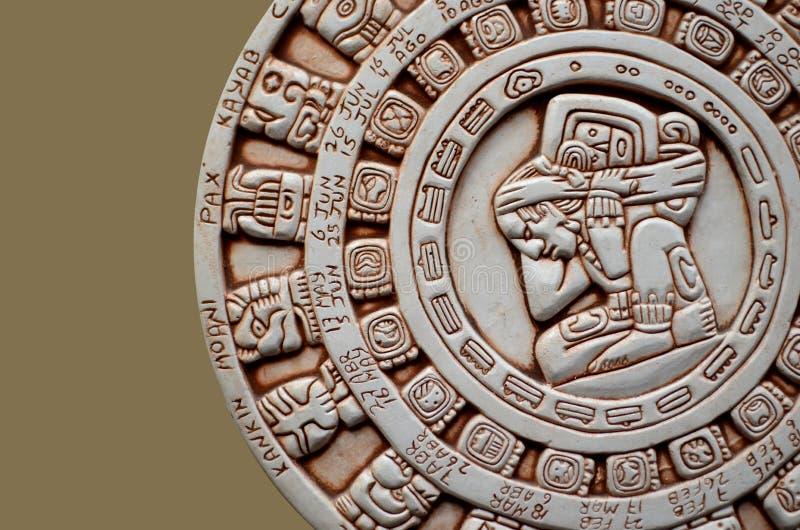 手工造玛雅人 库存图片