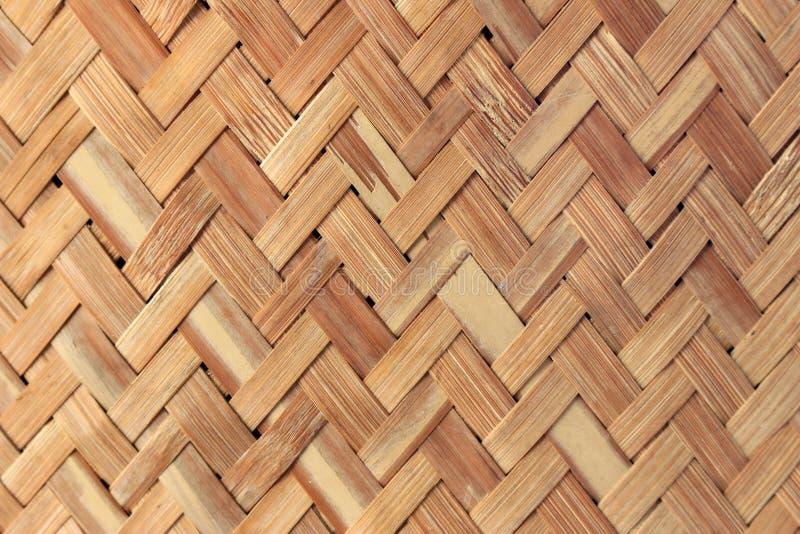 手工造竹织法背景 免版税库存照片