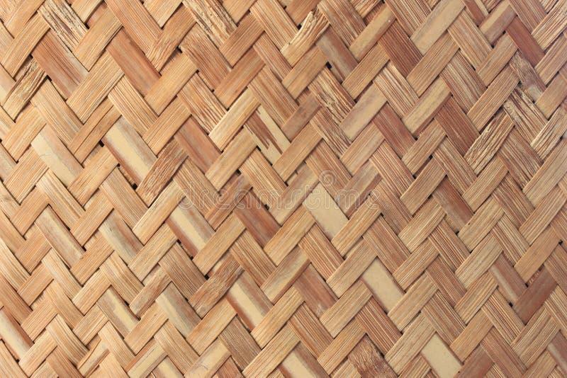 手工造竹织法背景 免版税库存图片