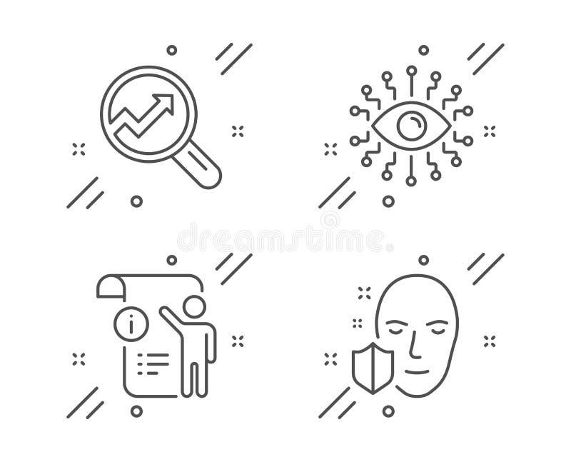 手工doc,逻辑分析方法和人工智能象集合 面孔保护标志 ?? 库存例证