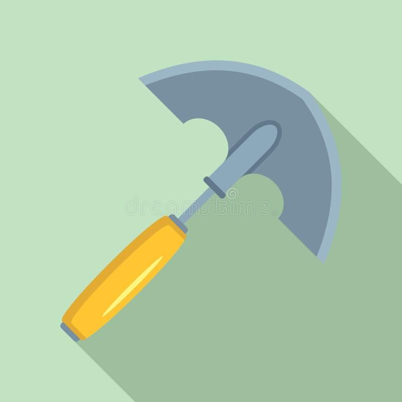 手开掘象,平的样式 向量例证
