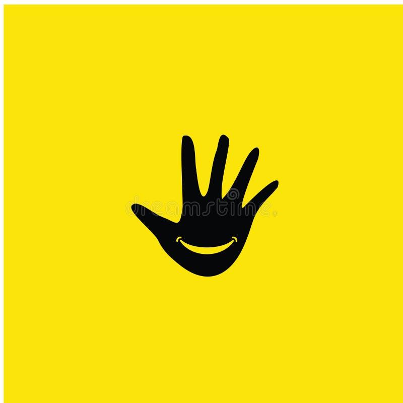 手微笑传染媒介模板设计例证 向量例证