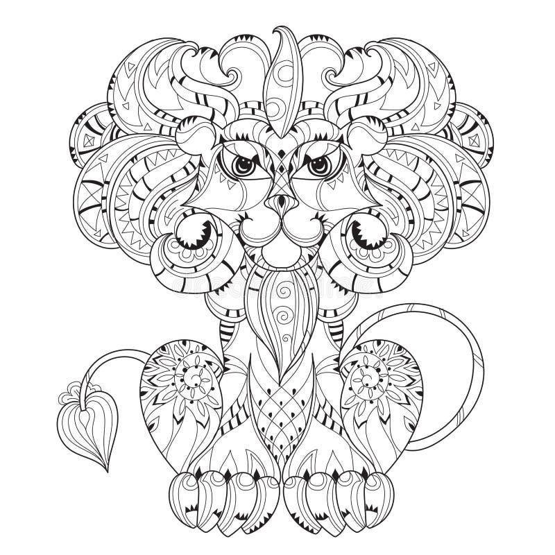 手拉乱画概述狮子睡觉 向量例证