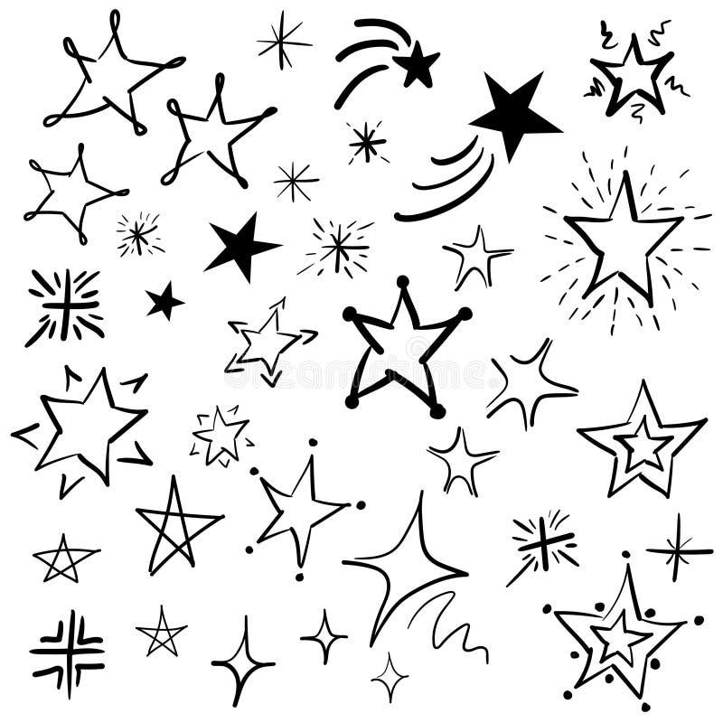 手拉的乱画星导航汇集,动画片星象集合,高楼上的广告牌 皇族释放例证