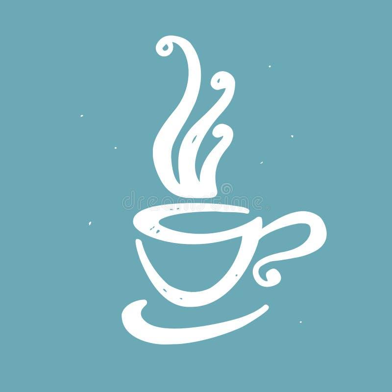 手拉的乱画咖啡 皇族释放例证