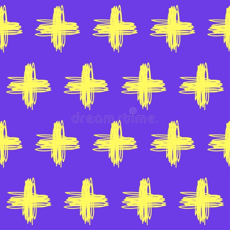 手拉的乱画无缝的样式背景 向量例证