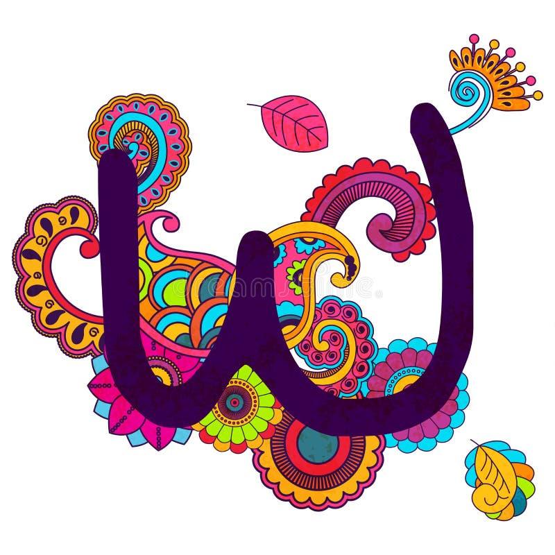 手拉的乱画的字母表 图库摄影