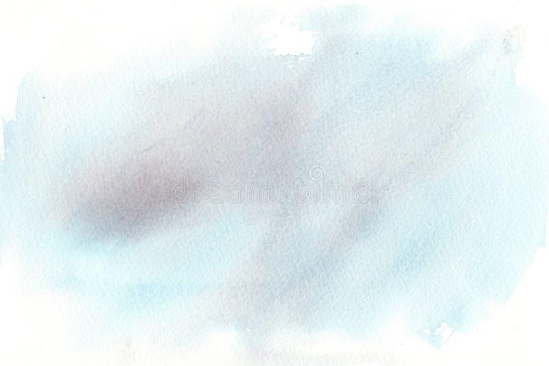 手拉的五颜六色的水彩摘要背景 向量例证