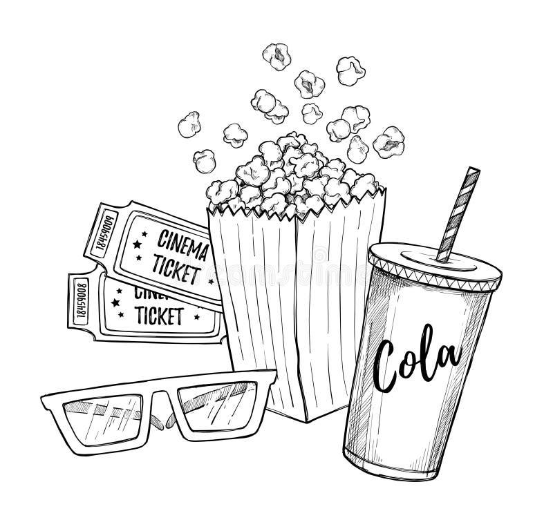 手拉的传染媒介例证-戏院汇集 电影和f 皇族释放例证