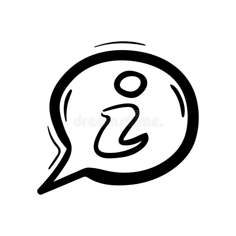 手拉的信息乱画象 手拉的黑剪影 标志标志 装饰元素 奶油被装载的饼干 查出 平的设计 向量例证