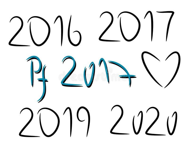 手拉的元素2016年2019年2020年 PF 2017年 皇族释放例证