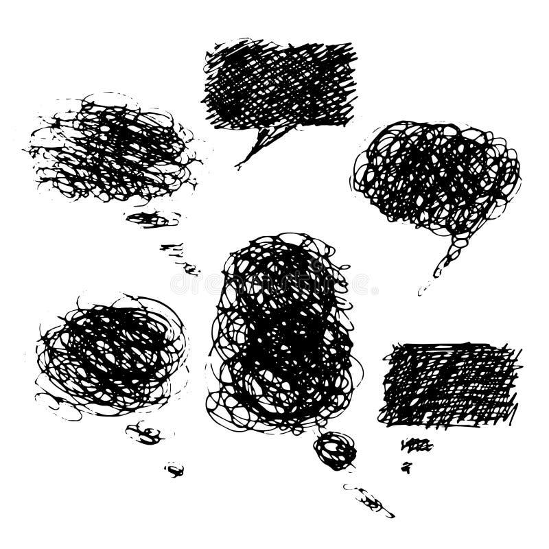 手拉的可笑的泡影 库存例证
