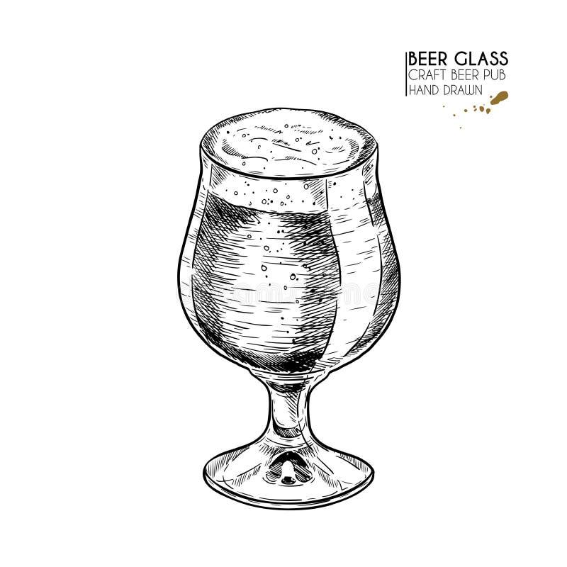 手拉的啤酒集合 传染媒介玻璃啤酒杯 慕尼黑啤酒节刻记了象 客栈酒精饮料和食物 工艺啤酒厂 皇族释放例证