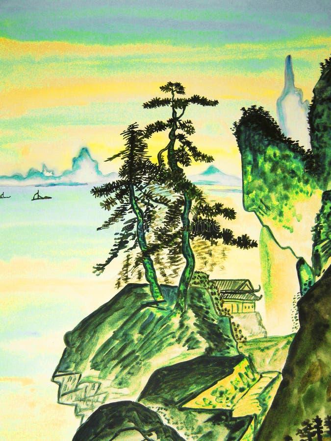 手拉的图片,在老中国艺术的传统 向量例证