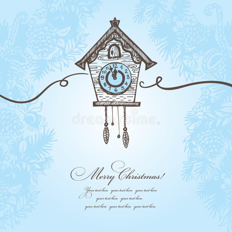 手拉的圣诞节背景 皇族释放例证