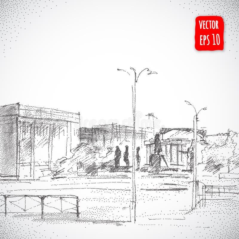 Download 手拉的城市街道 向量例证. 插画 包括有 设计, 图象, 噪声, 建筑, 创造性, 灰色, 夹子, 抽象 - 62531677