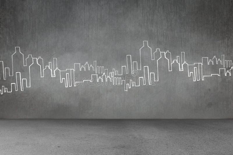 手拉的城市计划 免版税库存图片