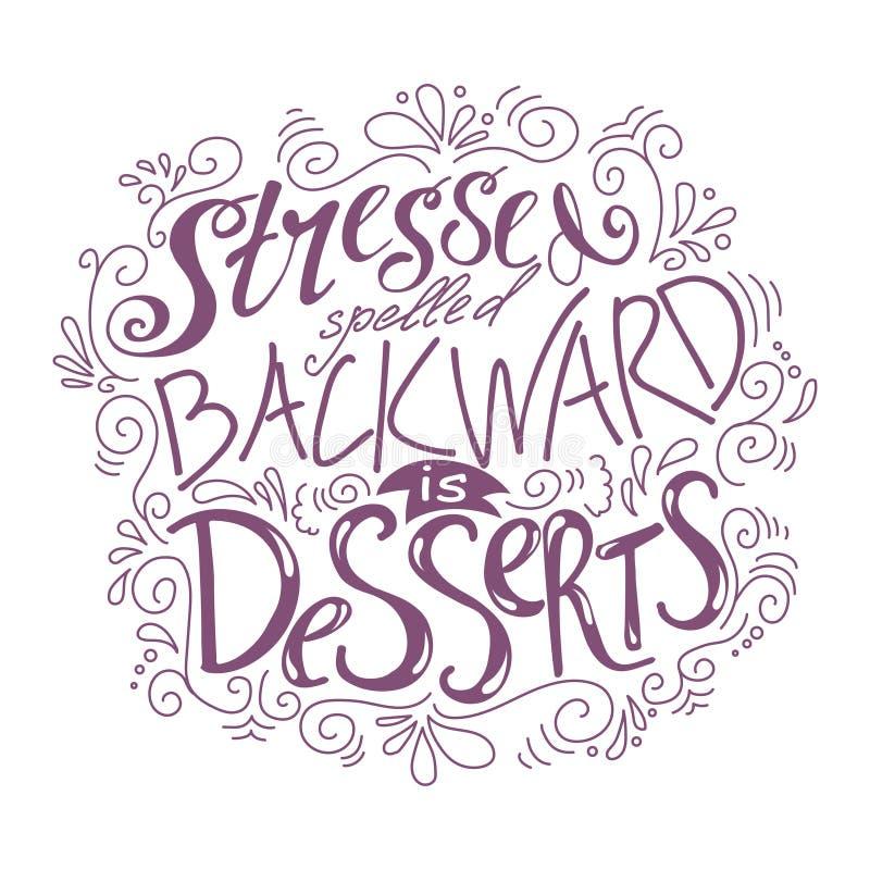 手拉的字法海报 关于甜点的传染媒介行情 艺术例证,面包店汇集 皇族释放例证