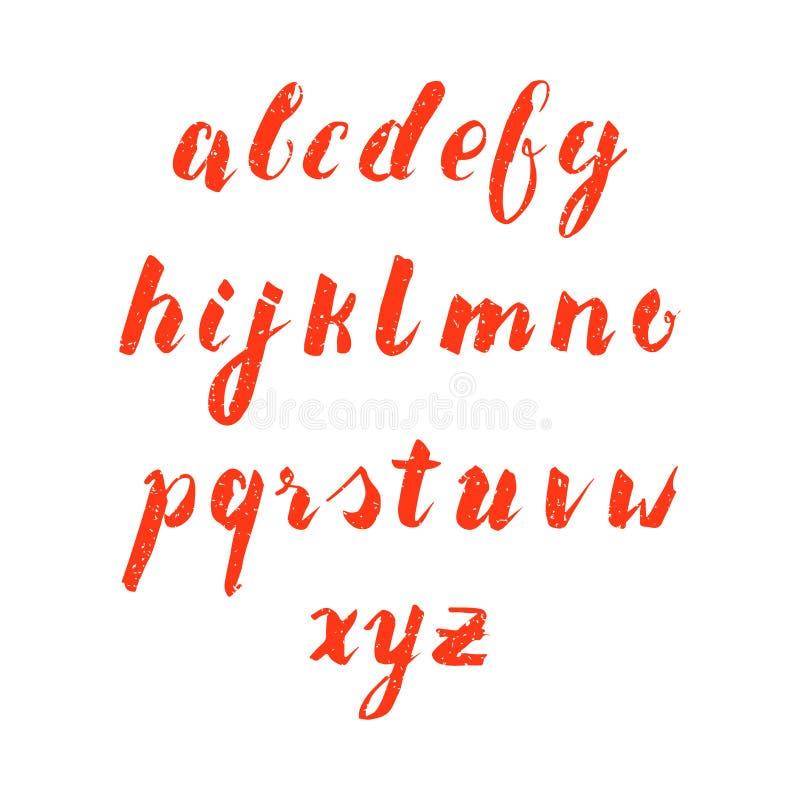 手拉的小写字母表 库存例证