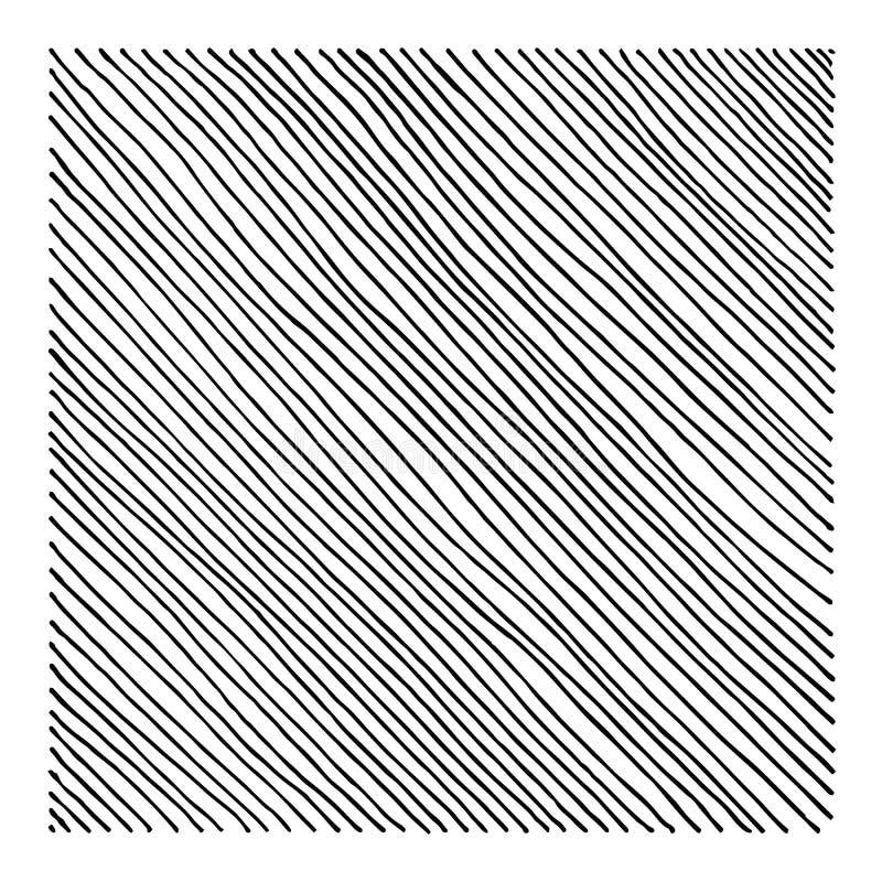 手拉的平直的黑对角线 向量例证