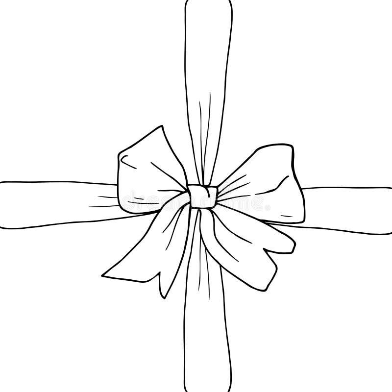 手拉的弓,丝带 免版税库存图片