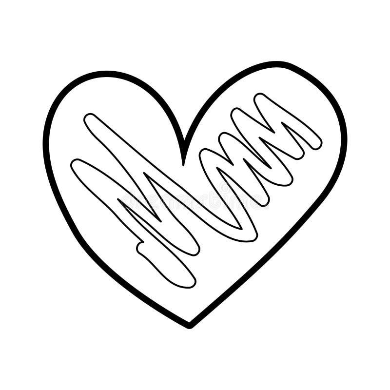 手拉的心脏爱浪漫史激情 向量例证