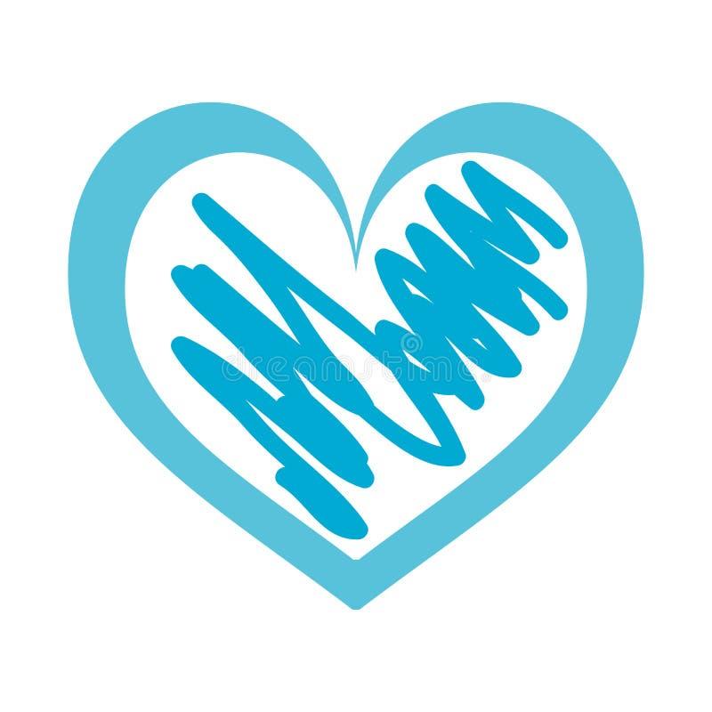 手拉的心脏爱浪漫史激情 库存例证