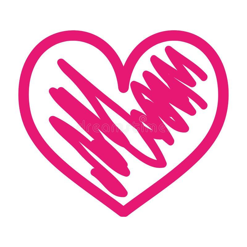 手拉的心脏爱浪漫史激情 皇族释放例证