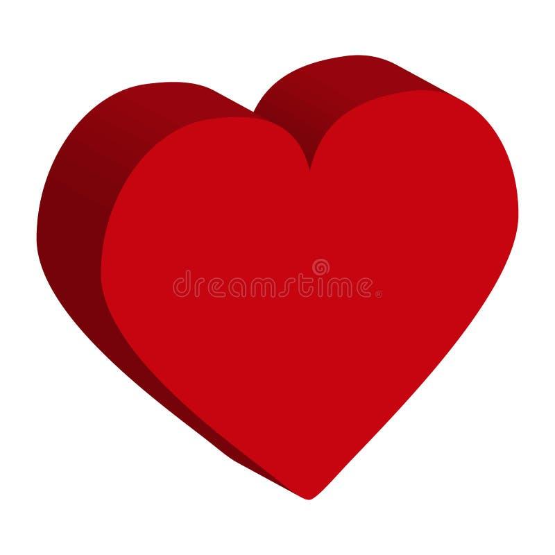 手拉的心脏 设计元素为情人节 皇族释放例证