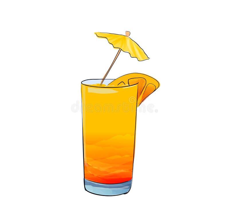手拉的杯coclail 库存例证