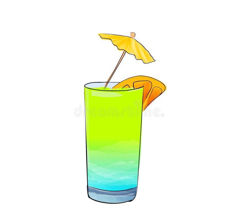 手拉的杯coclail 向量例证
