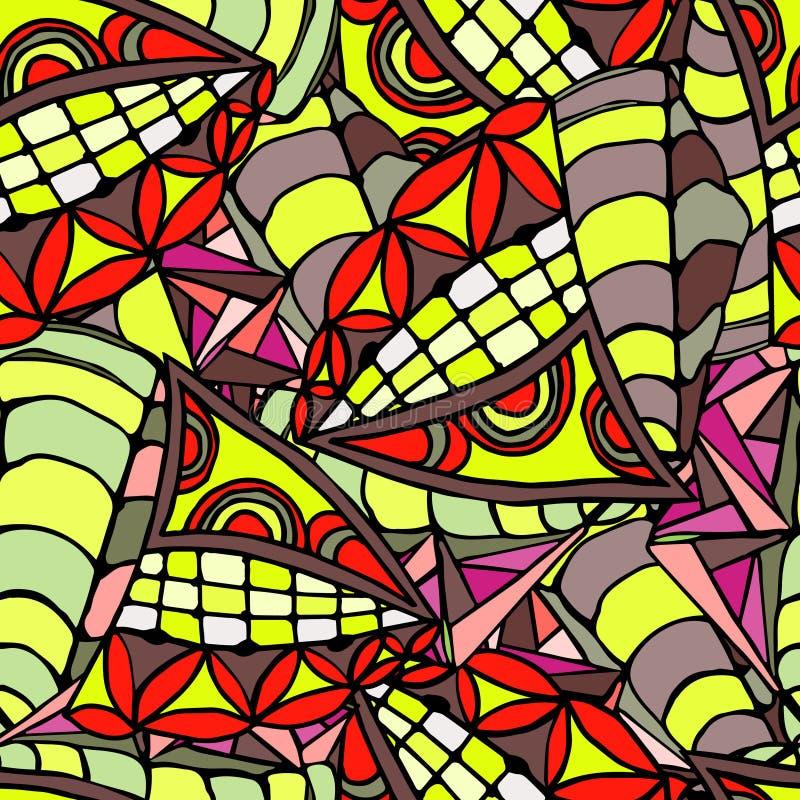 手拉的样式几何背景  向量例证