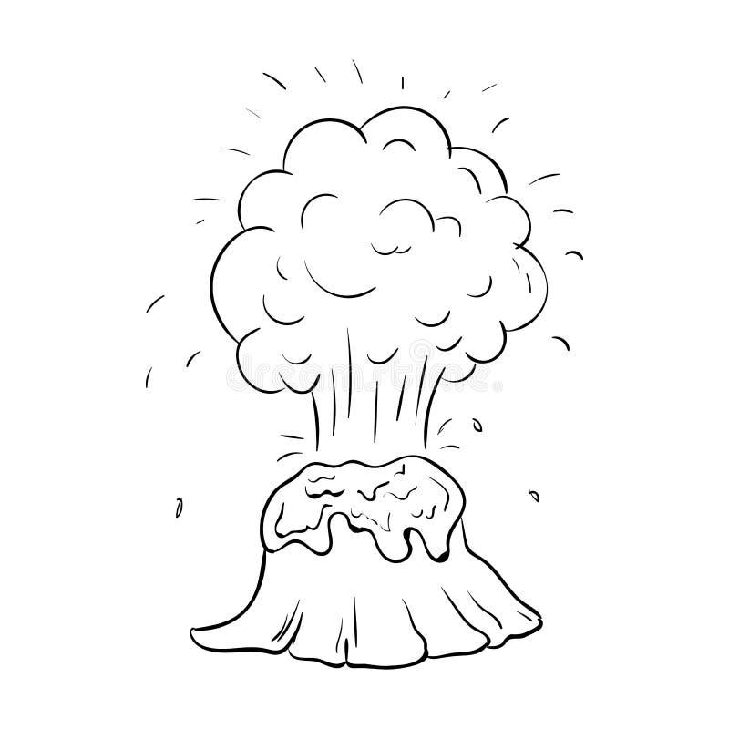 手拉的火山乱画象 r 标志动画片标志 装饰元素 o ?? ?? 库存例证