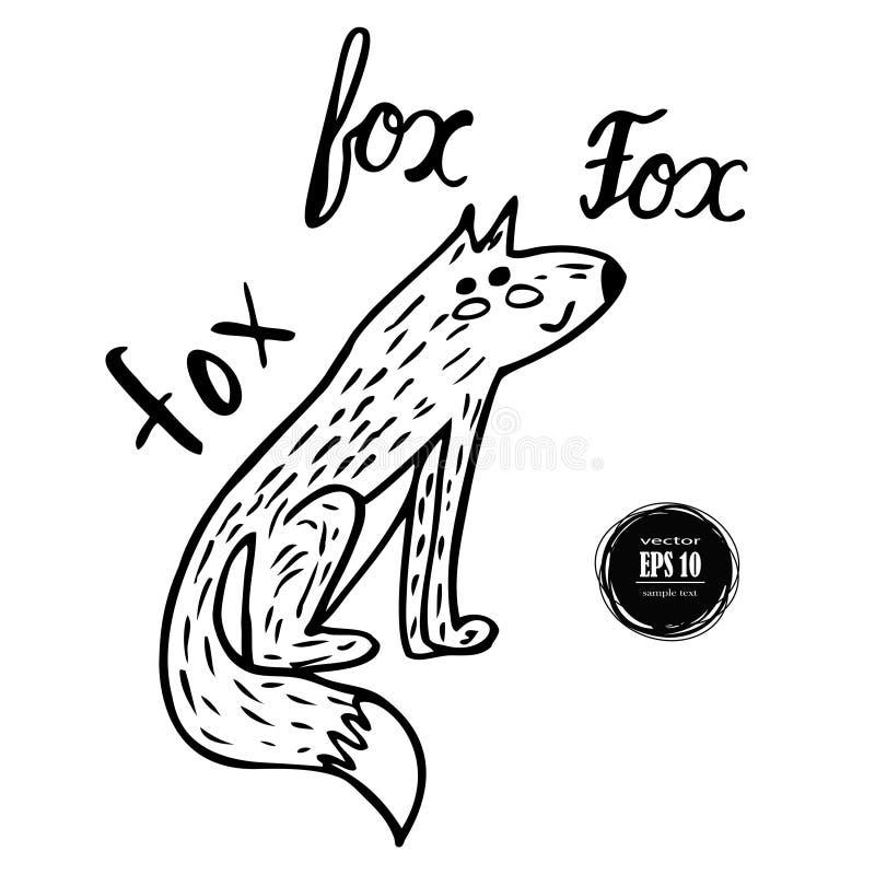 手拉的狐狸例证生命 皇族释放例证