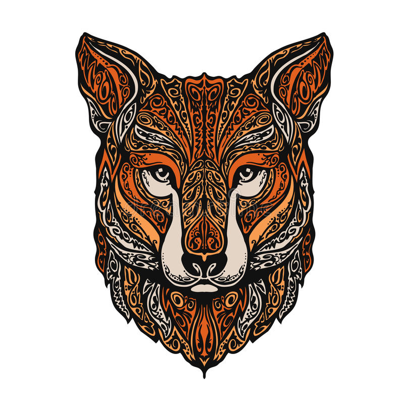 手拉的狐狸 种族模式 也corel凹道例证向量 库存例证