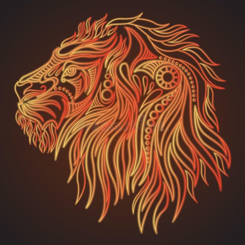 手拉的狮子头 库存例证