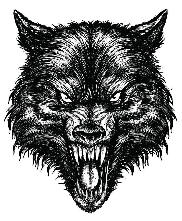 手拉的狼划线传染媒介 皇族释放例证