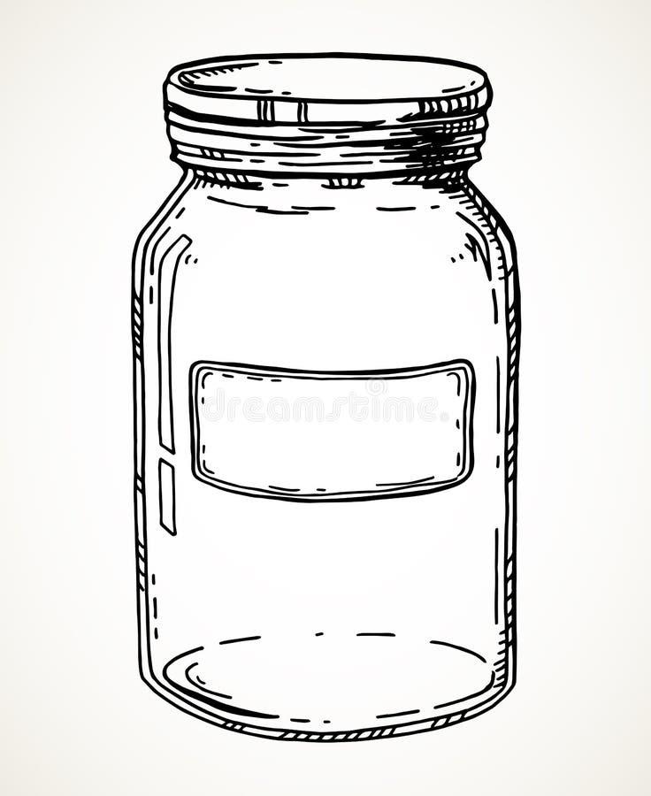 手拉的瓶子 库存例证