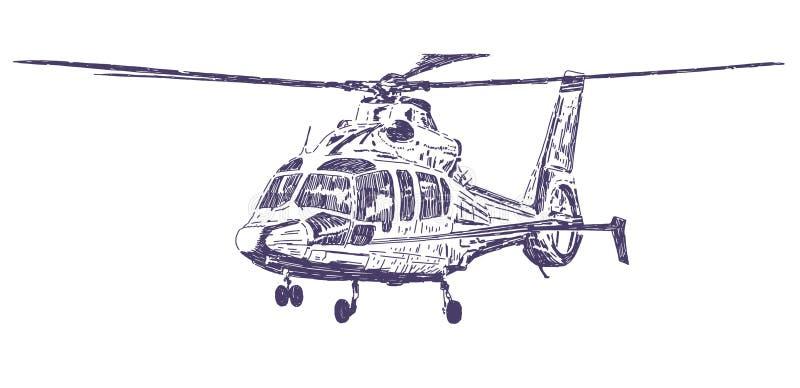 手拉的直升机 免版税库存图片