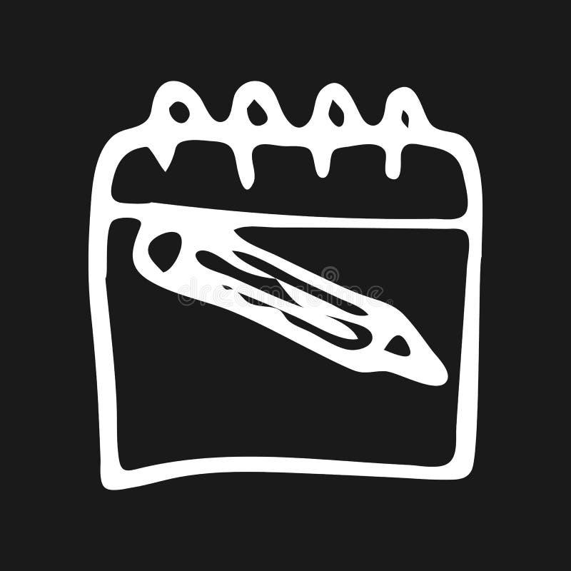 手拉的笔记本乱画象 手拉的黑剪影 sy的标志 皇族释放例证
