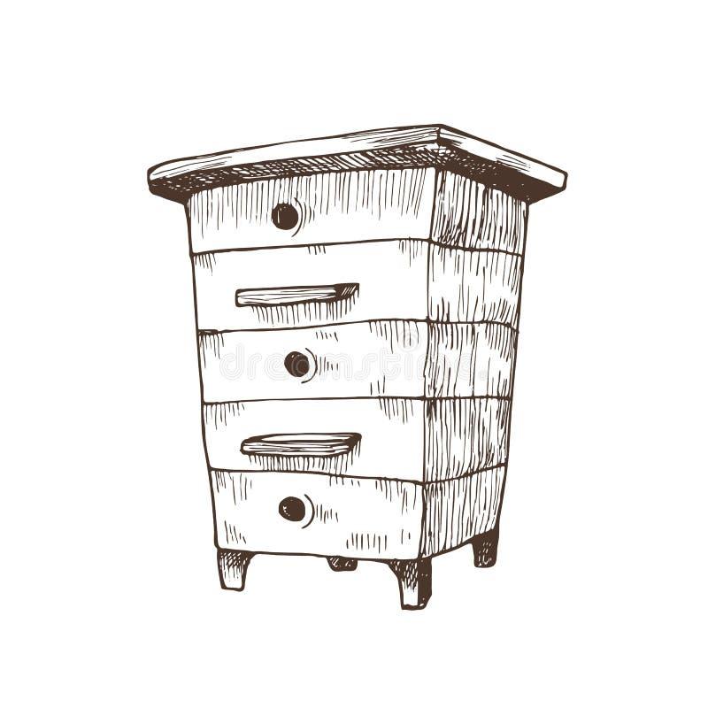 手拉的箱子蜂房 向量例证