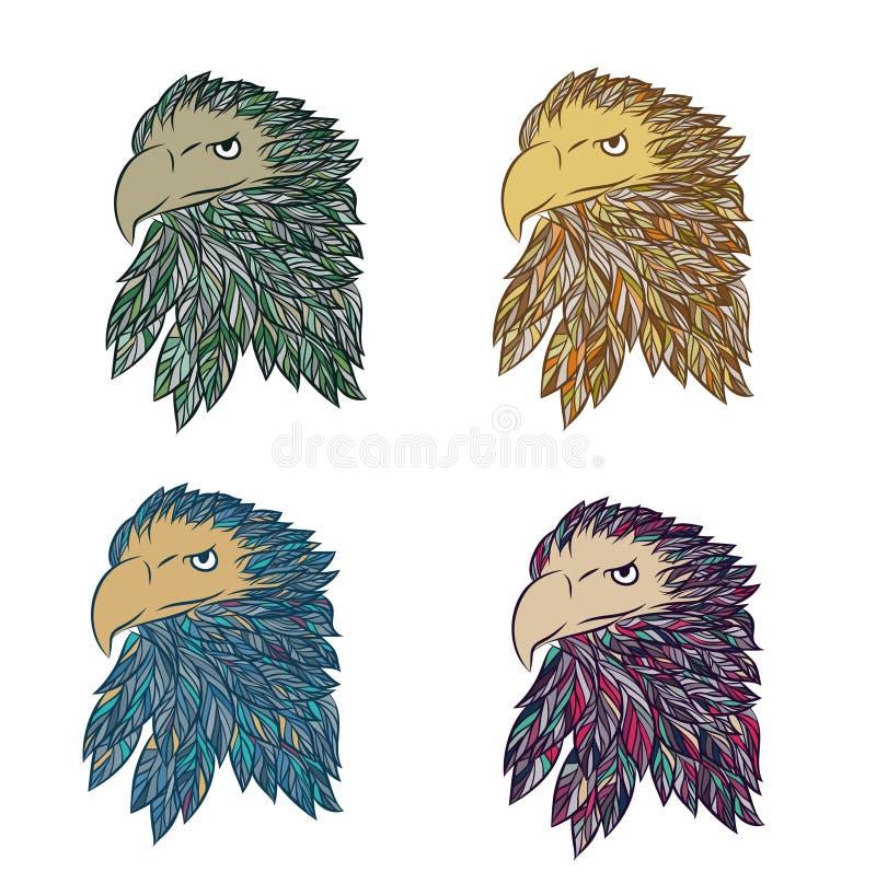手拉的老鹰传染媒介 向量例证