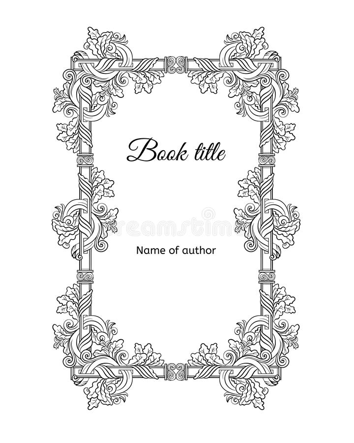 手拉的花卉书套概念 库存例证