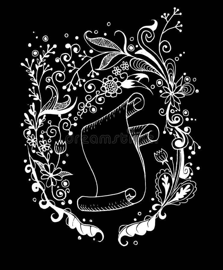 Download 手拉的花卉背景和卷老纸 向量例证. 插画 包括有 叶子, 弄皱, 墨水, 邀请, 现有量, 花卉, 画布 - 59106684