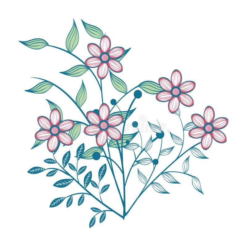 手拉的花设计 向量例证