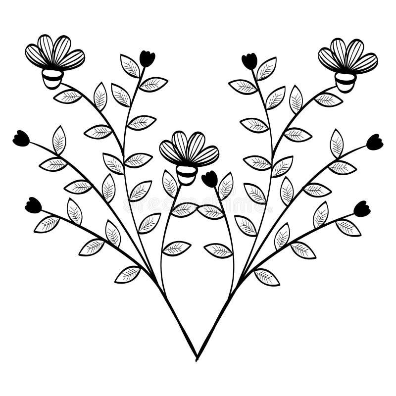 手拉的花设计 库存例证
