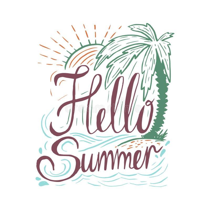 手拉的葡萄酒行情关于夏天: 库存例证